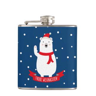 """Cantil Urso branco delicada """"Feliz Natal"""" alemão"""