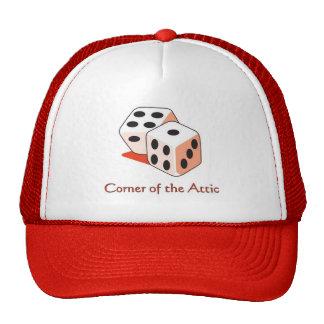 Canto do chapéu do sótão boné
