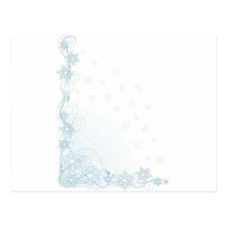 Canto do floco de neve cartão postal