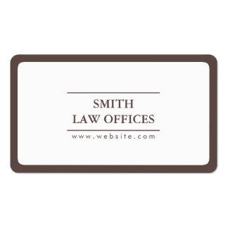 Canto redondo da planície do advogado do advogado cartão de visita