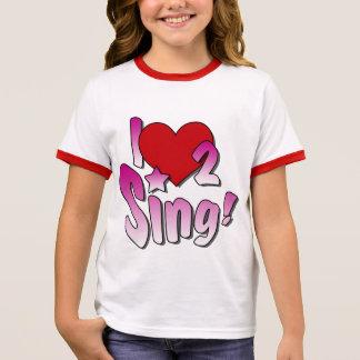 Cantores, eu amo 2 canto t-shirts