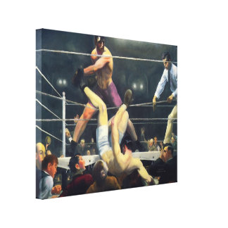 canvas 1924 da luta dos esportes da arte do vintag