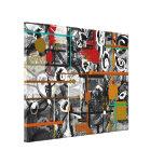 Canvas abstratas Scrappy Impressão De Canvas Esticadas