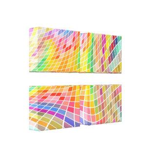 Canvas Arte-Customizáveis coloridas dos quadrados