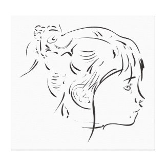 Canvas caligráficas da menina