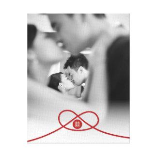 Canvas chinesas da foto do casamento do nó dobro