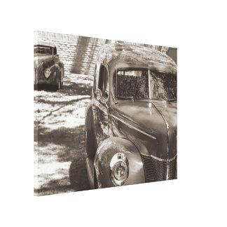 Canvas clássicas do sepia dos carros impressão em tela