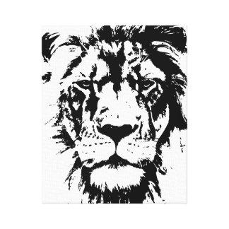Canvas com um impressão preto e branco Leo
