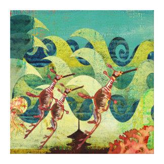 Canvas da avenida do oceano dos dragões do mar