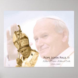 Canvas da colagem de Papa João Paulo II Pôster