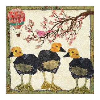 Canvas da flor de cerejeira dos ganso impressão em tela