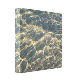 Canvas da fotografia da reflexão da água impressão em tela