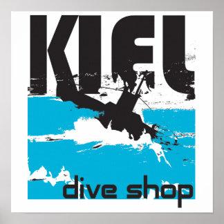 Canvas da loja do mergulho de Kiel Pôster