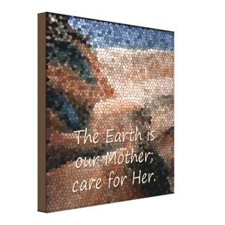 Canvas da Mãe Terra do nativo americano do