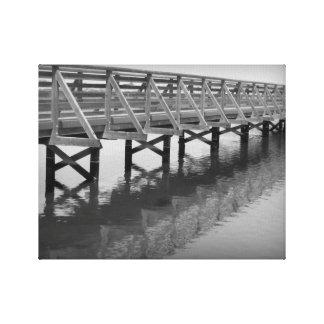Canvas da ponte dos pantanais de Bolsa Chica Impressão Em Tela