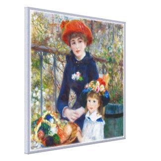 Canvas das irmãs CC0401 de Pierre-Auguste Renoir