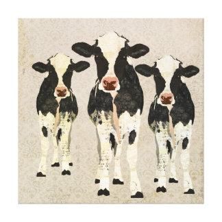 Canvas das vacas do ônix & do marfim