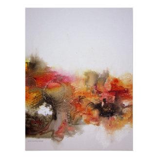Canvas de arte abstracta modernas brancas poster perfeito