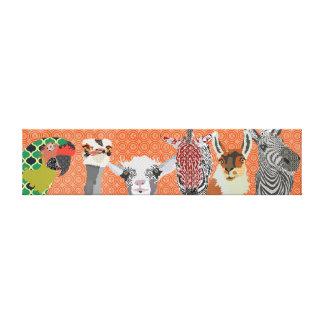 Canvas de arte animais do peekaboo impressão de canvas envolvidas