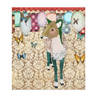 Canvas de arte asiáticas enfadados dos cervos impressão de canvas envolvidas