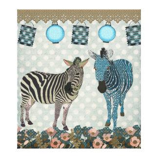 Canvas de arte das zebras do zen
