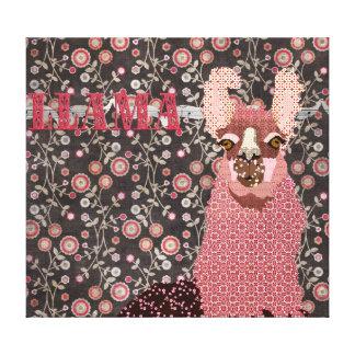 Canvas de arte florais do vintage cor-de-rosa de B Impressão Em Tela Canvas