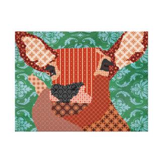 Canvas de arte verdes da rena impressão de canvas envolvida