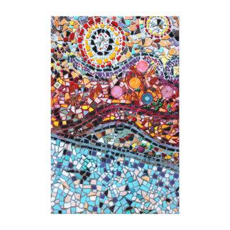 Canvas de arte vibrantes da parede do mosaico