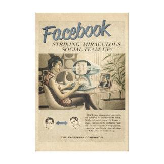 Canvas de Facebook do vintage