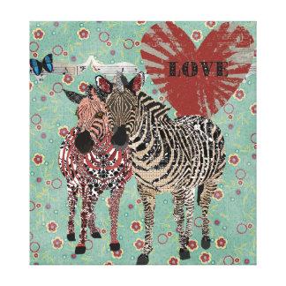 Canvas do amor de Zenya & de Zeb Impressão Em Tela