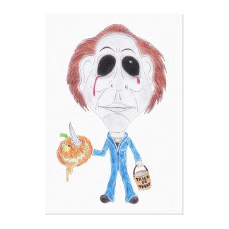 Canvas do assassino em série da caricatura do impressão em tela canvas
