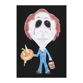 Canvas do assassino em série da caricatura do impressão de canvas envolvidas