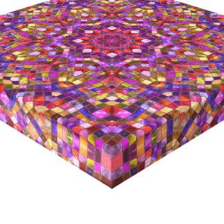 Canvas do caleidoscópio do vintage do mosaico