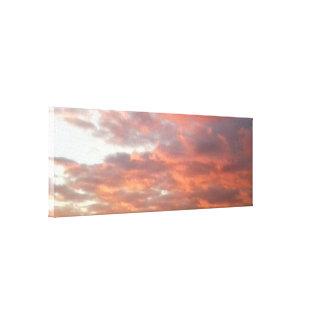 Canvas do céu do por do sol da foto