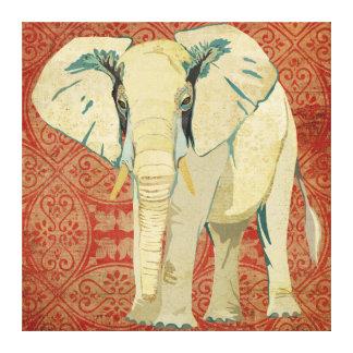 Canvas do damasco do elefante branco impressão em tela