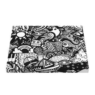 canvas do doodle impressão em tela