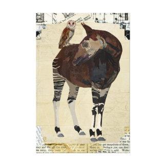 Canvas do OKAPI & da CORUJA do VERÃO Impressão Em Tela