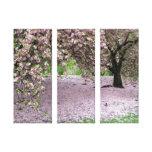 canvas do painel da árvore três da flor de