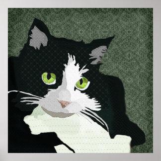 Canvas do verde da arte de Mia Poster