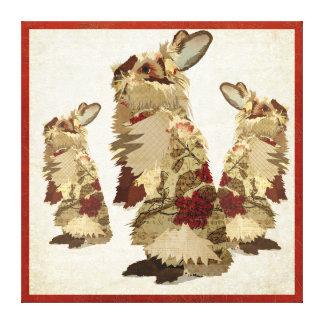 Canvas dos coelhos do angora impressão em tela