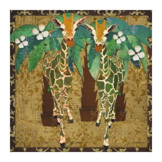 Canvas douradas de Tropicana dos girafas Impressão Em Tela