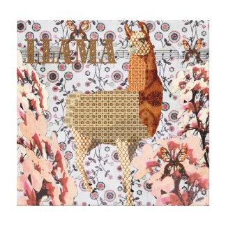 Canvas douradas do lama da flor de cerejeira impressão em tela