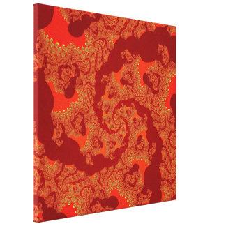 Canvas esticadas Fractal do fogo do dragão Impressão De Canvas Envolvidas