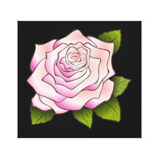 Canvas esticadas preto de tiragem do rosa do rosa impressão de canvas esticada