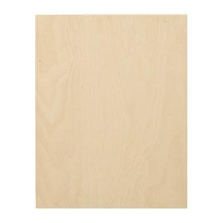 Canvas feitas sob encomenda da madeira 11x14 impressão em madeira
