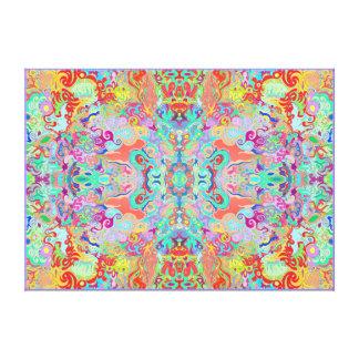 Canvas grossas da Multi-cor do Fractal do compasso