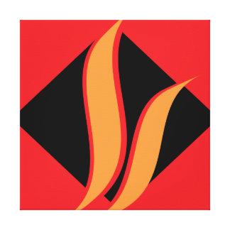 Canvas pretas & amarelas vermelhas da parede impressão de canvas envolvidas