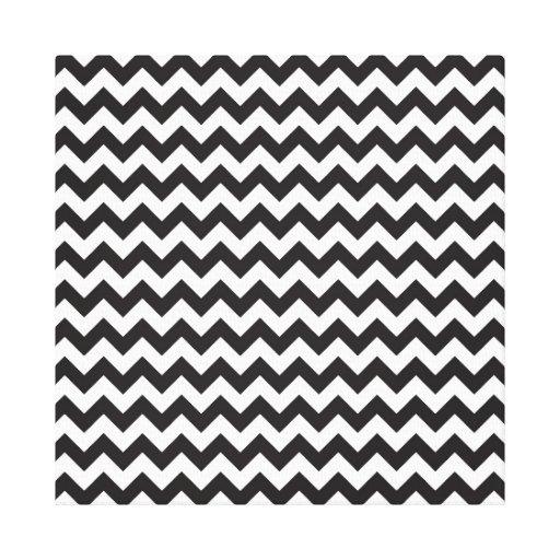 Canvas pretas & brancas de Chevron Impressão Em Canvas