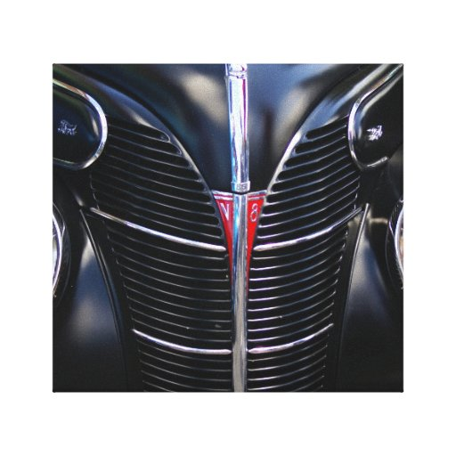 Canvas pretas de V8 Impressão De Canvas Envolvidas