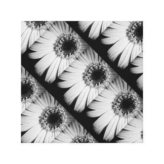 Canvas preto e branco da flor impressão em tela